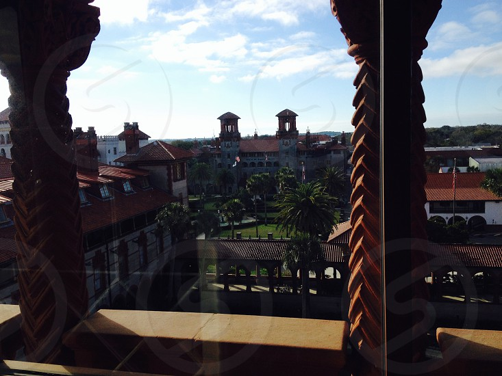 Atop Flagler College once called the the Hotel Ponce de Leonbuilt by Henry Flagler. photo