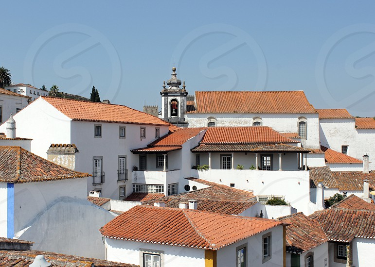 Portugal Lisbon summer roof architecture space view fortress photo