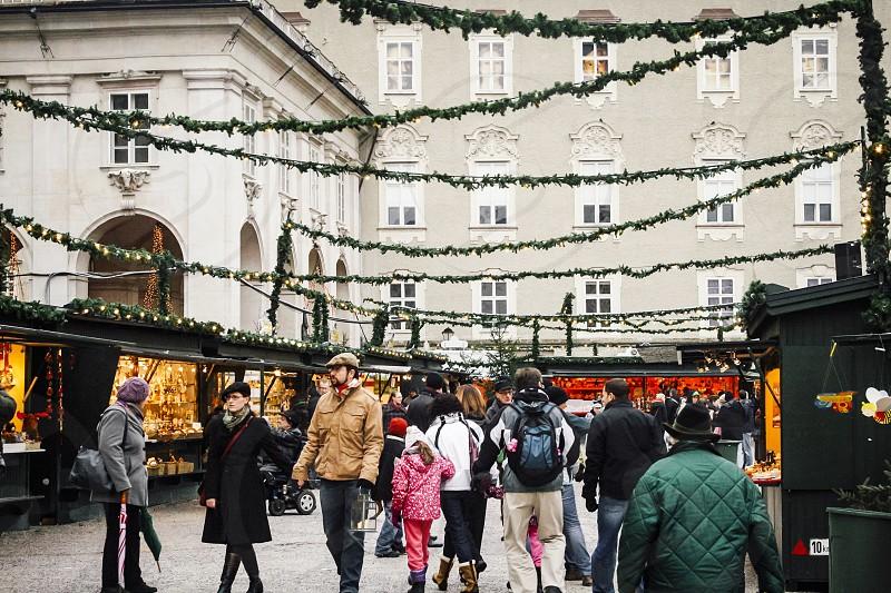 christmas market salzburg austria photo