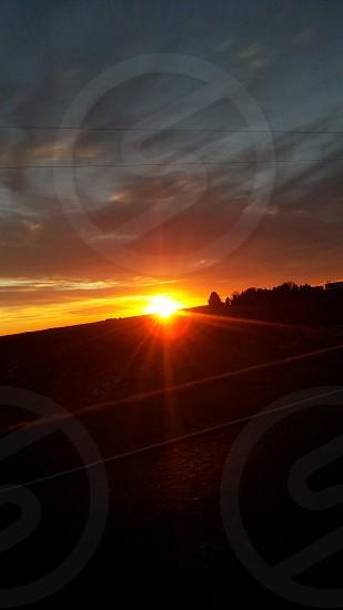 beautiful sunset on my way to texas photo
