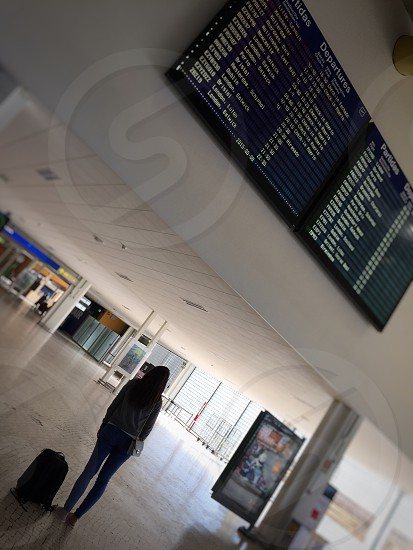 Airport departures arrivals travel airplane air travel  photo