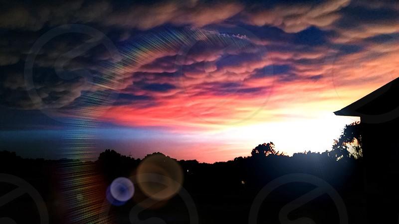 Sunset after a storm.  photo