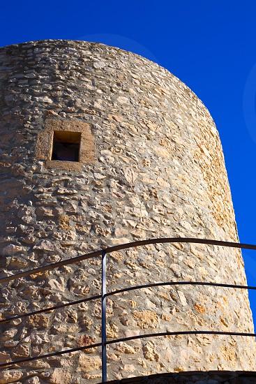 Javea denia San antonio Cape old windmills masonry structure in Alicante province spain photo