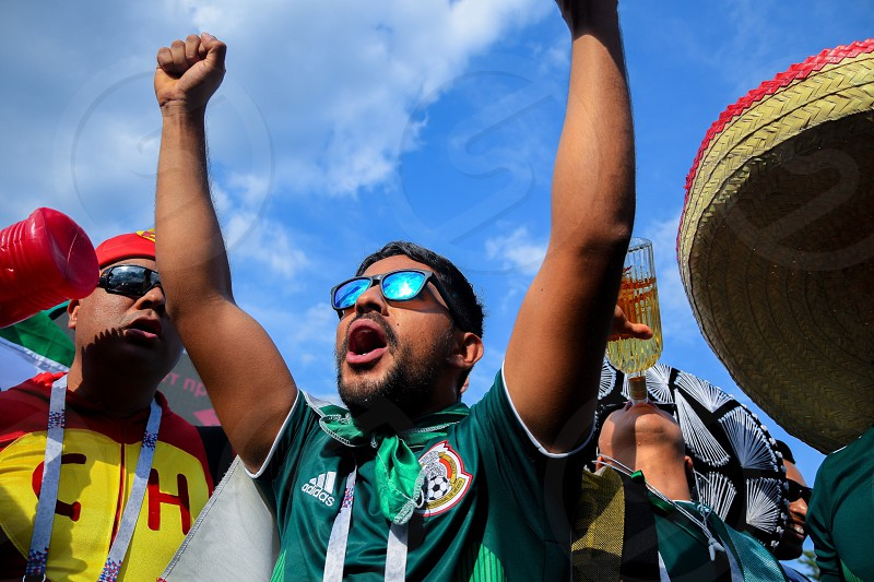 Mexico football fans  photo