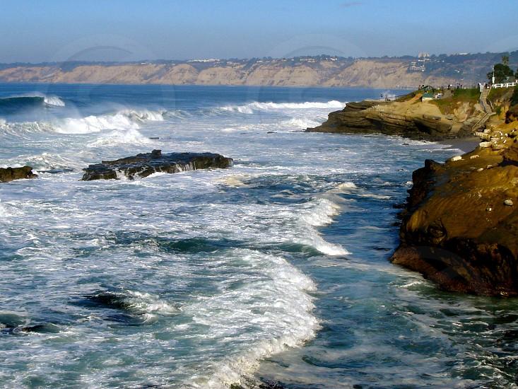 Waves along the La Jolla coast California USA photo
