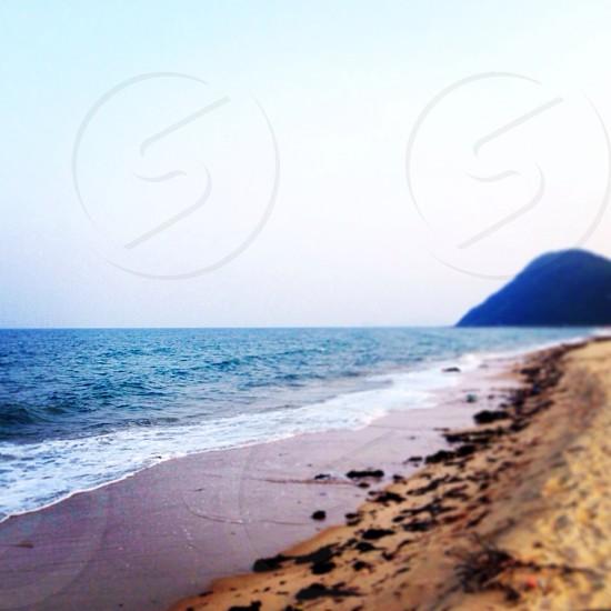 Beach sand mountain vietnam photo