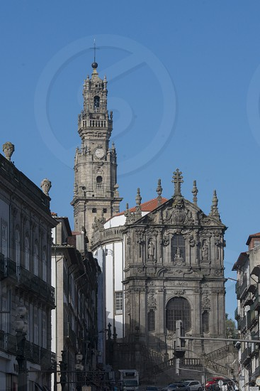 the igreja dos Clerigos in Ribeira in the city centre of Porto in Porugal in Europe. photo