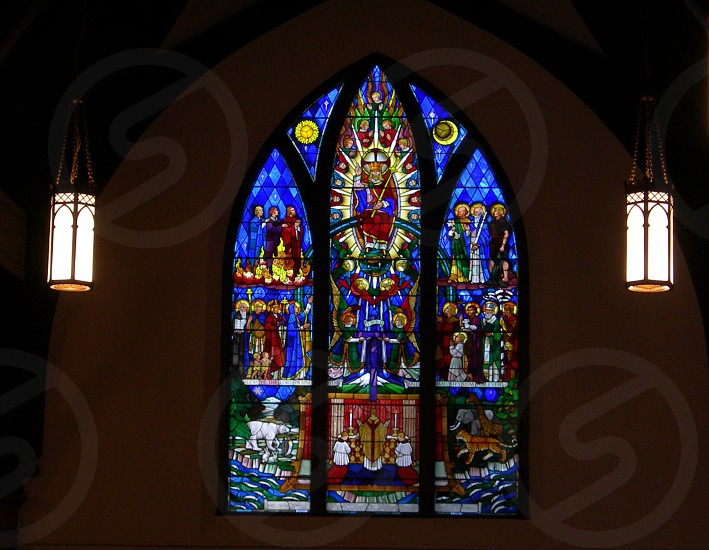 Stained glass. photo