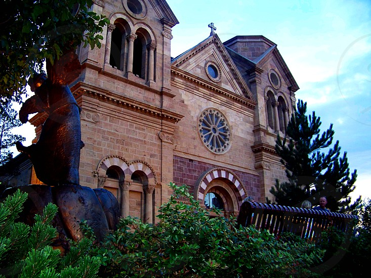 Cathedral Basilica of St. Francis of Assisi in Santa Fe NM. photo