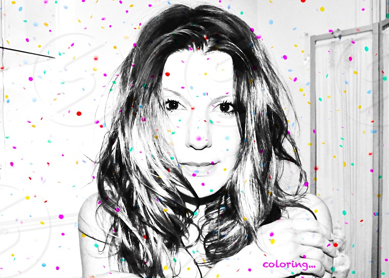 personal portrait self portrait coloring colorful sprinkles women female capturing colors <3 coloring  photo
