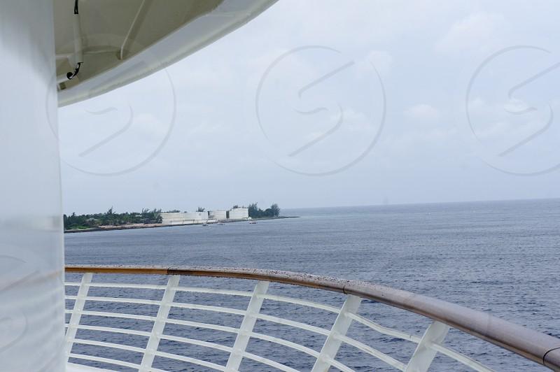 Balcony view on a Caribbean cruise photo