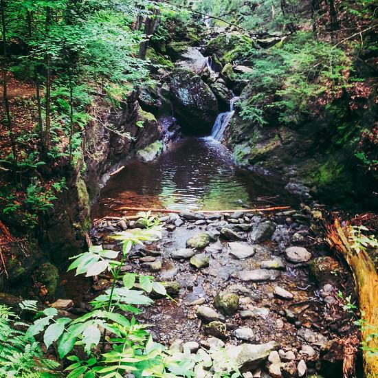 Waterfallnaturesummerhigh rockpoolclear photo