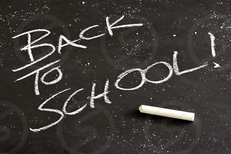 Back to school means back to the blackboard for young scholars.  photo
