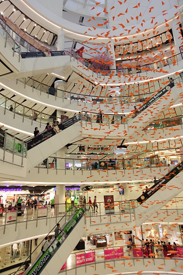 the Shopping Center Central World Plaza shopping mall in the city centre at the pratunam aerea in the city of Bangkok in Thailand in Suedostasien. photo