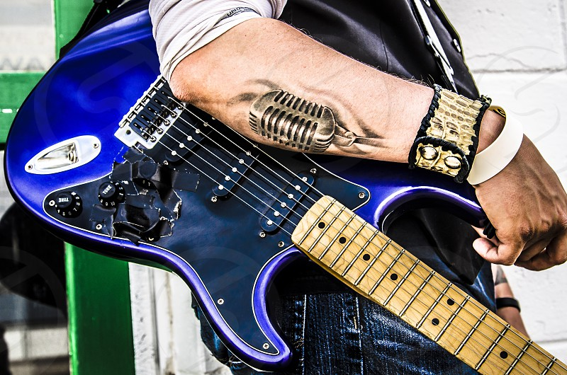 Tattoo music guitar rock and roll photo
