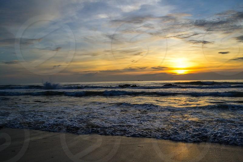 Sunset in Koh Lanta Thailand photo