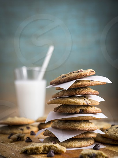 Chocolate Chip Cookies and Milk photo