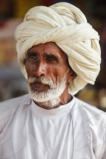 Man in Pushkar Mela photo