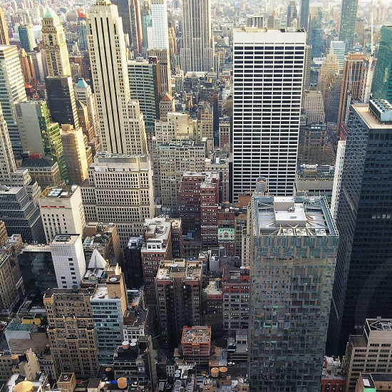 new york cityscape aerial photography  photo