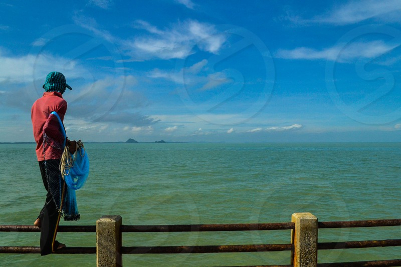Local Fisherman in Koh Samui Thailand photo