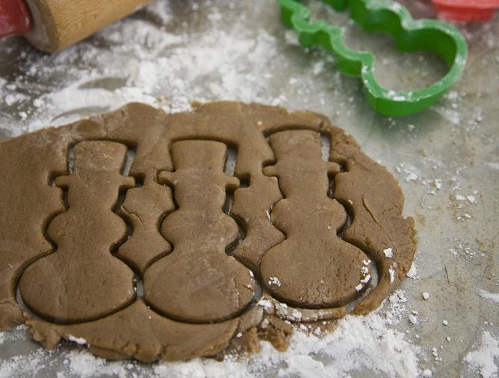 Gingerbread snowmen. photo
