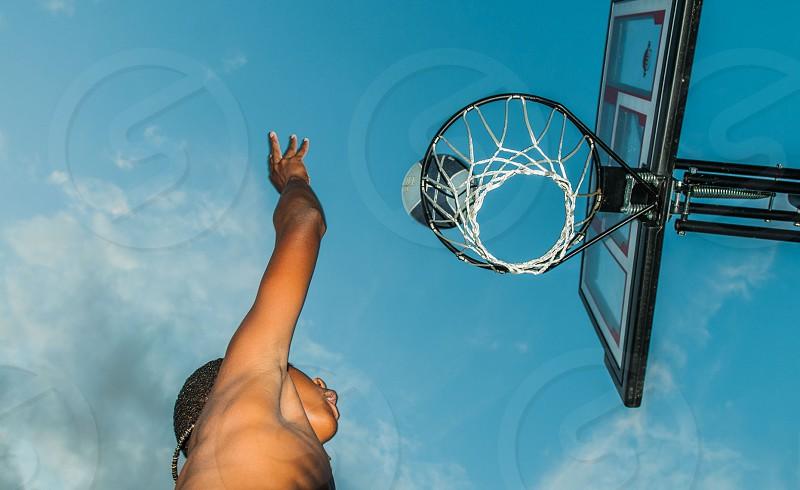 Basketball hoops photo