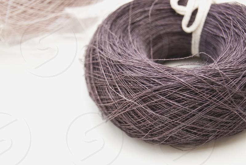 100% flax linen thread on a roll photo