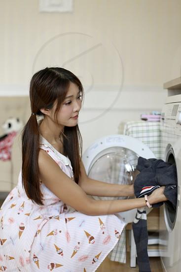 Doing laundry photo