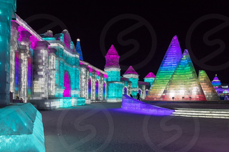 Harbin China ice festival  photo