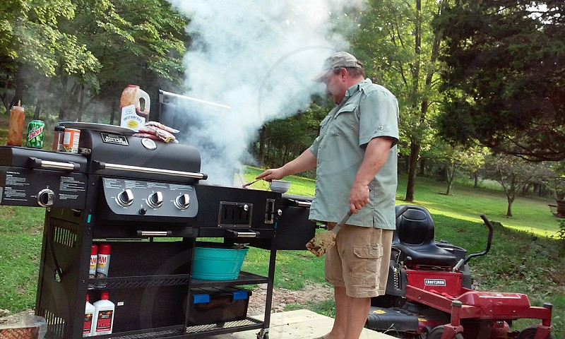 my son in law barbecueing photo