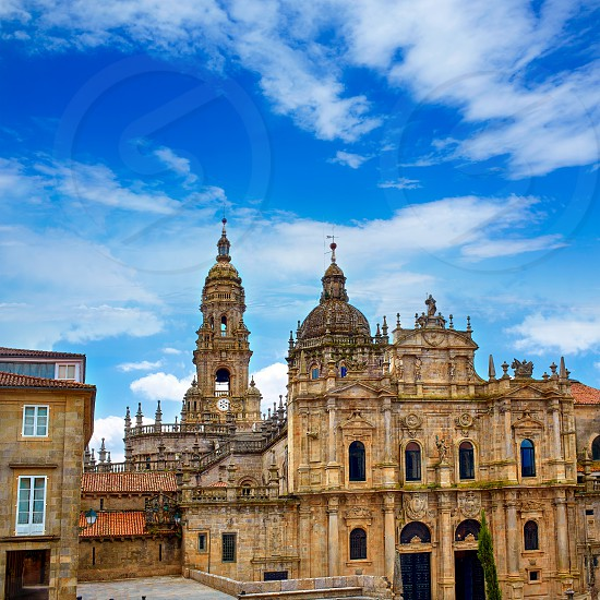 Santiago de Compostela Cathedral end of Saint James Way in Galicia Spain photo