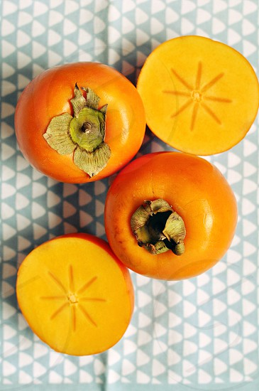 Persimmon fruits (Kaki) photo