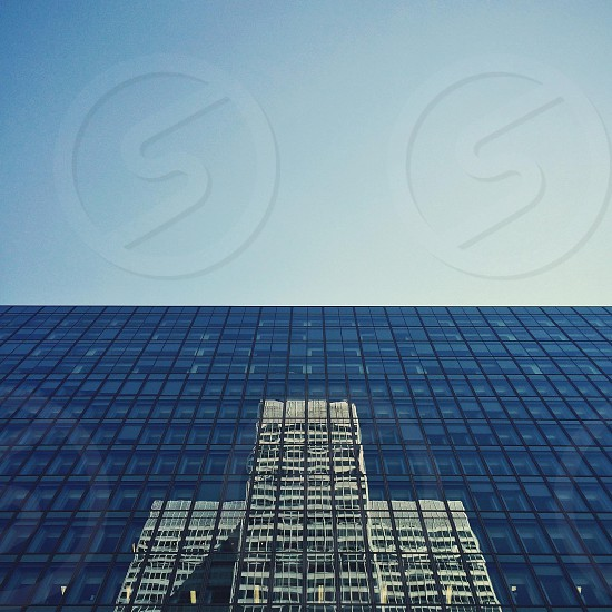 Minimalist architectural shot of Montreal landmark Place Ville Marie photo