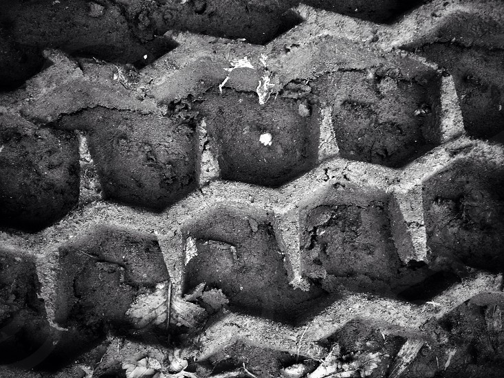 Tire tracks in mud imprint iPhone 5s close up  photo