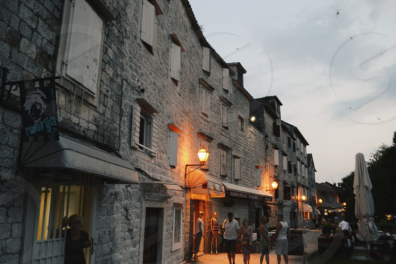 Old Croatian street. photo