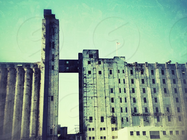 view of white concrete building photo