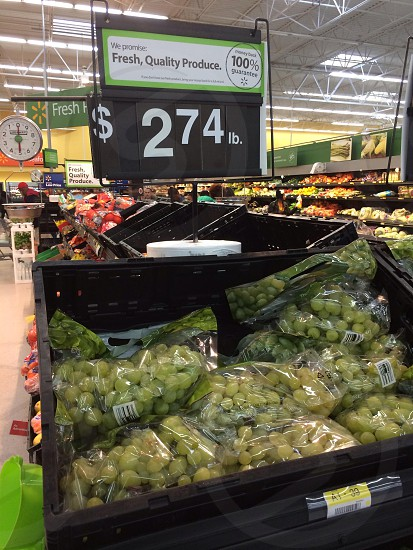 Grocery store grape display photo