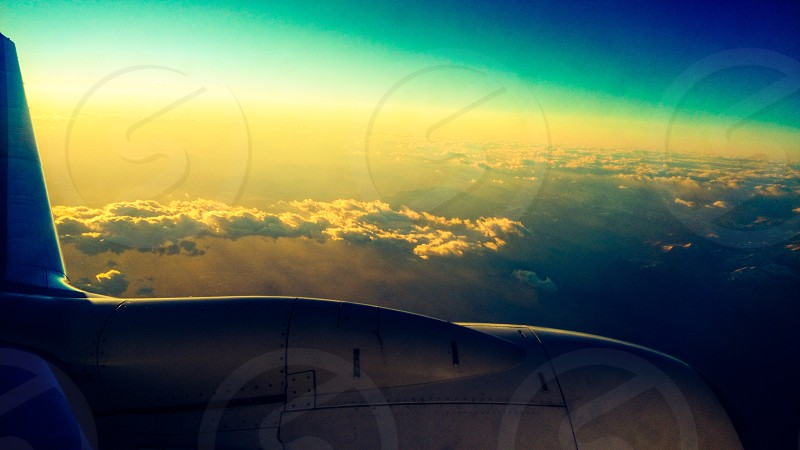 white air plane wing photo
