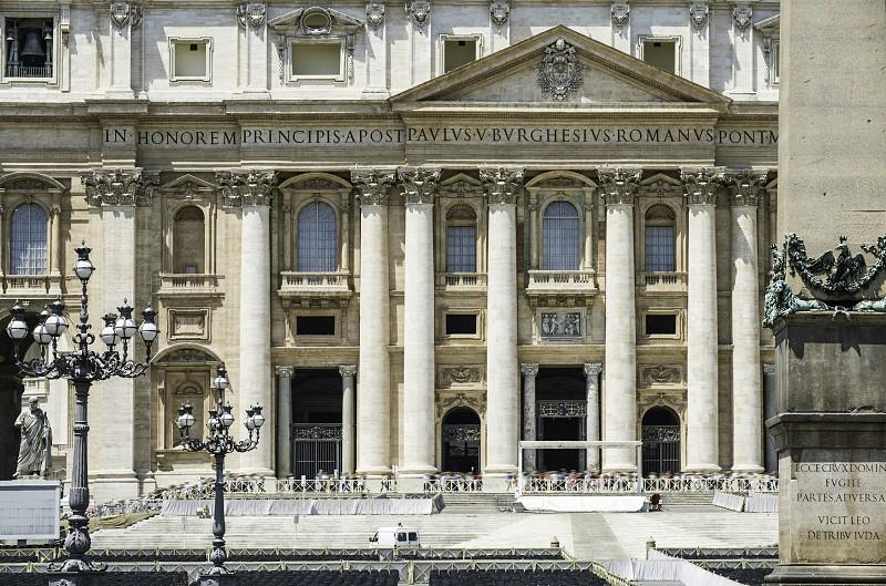 St. Peter's Squar Vatican Rome. Basilica of St. Peter photo