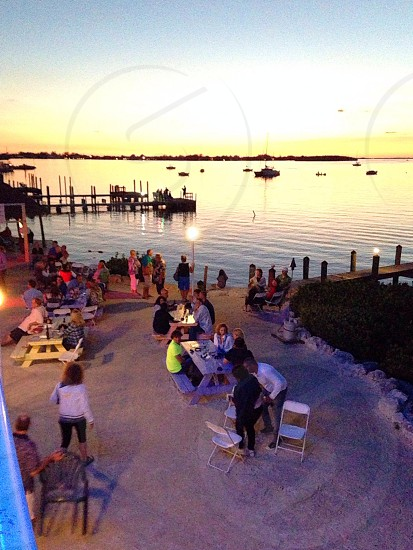 Key largo sunset people eatingdrinking photo