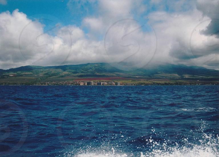 Shore Maui blue ocean water beautiful  photo