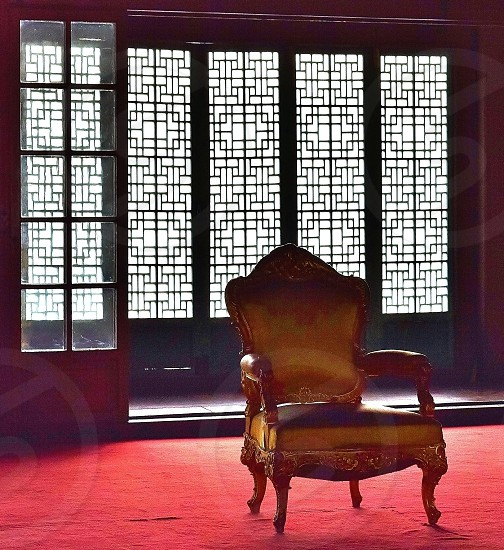 A chair from the collection of the former royal family at Doeksogung in Seoul photo