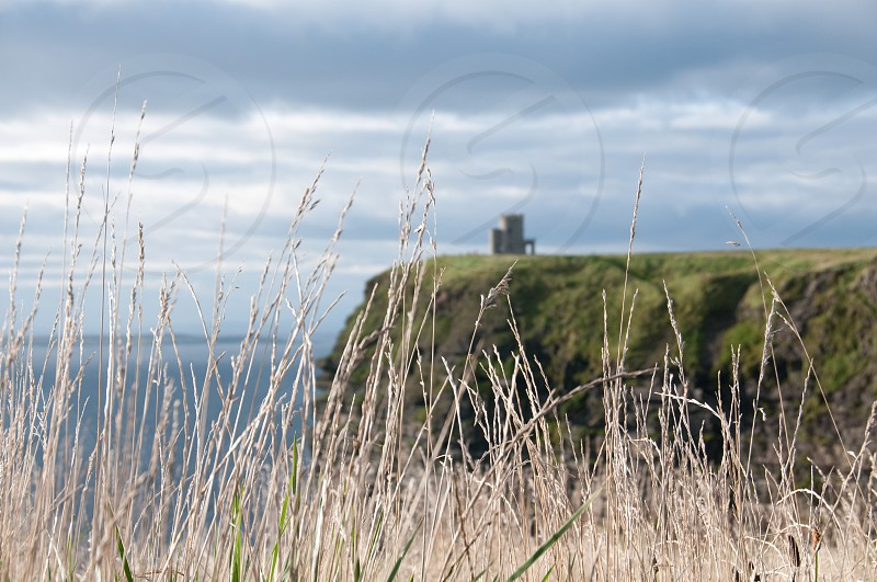 Castle on the coast of Ireland. photo