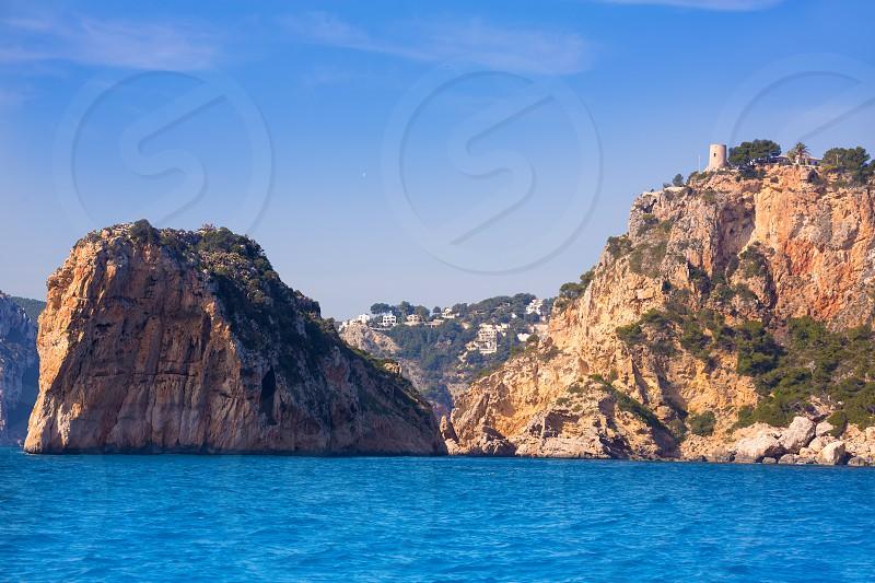 Javea Isla del Descubridor torre Granadella Xabia in Mediterranean Alicante at Spain photo