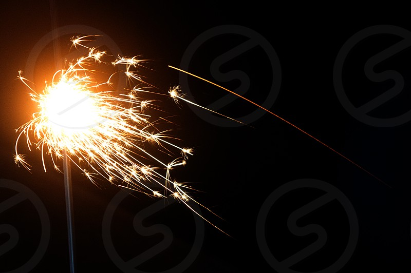 Fourth of July sparkler fireworks photo