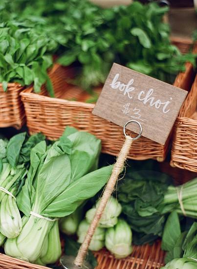 farmers market farm to table fresh vegetables bokchoi green leaves food healthy photo