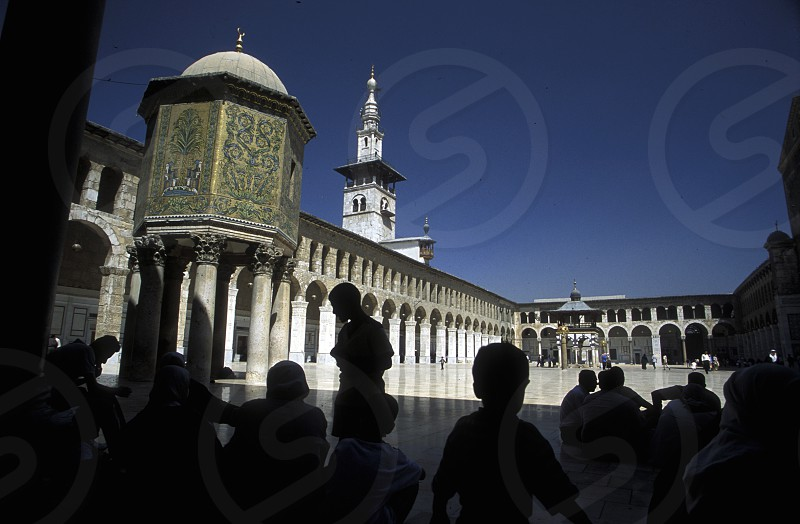 the Umayyad Mosque in the city of Damaskus in Syria in the middle east photo