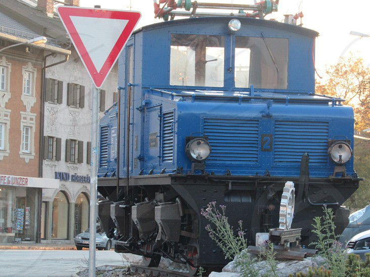 blue train during day time photo