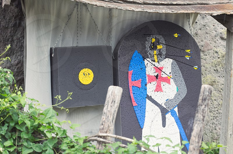 Medieval Knight Archery Target Made of Grey Plastic Foam photo