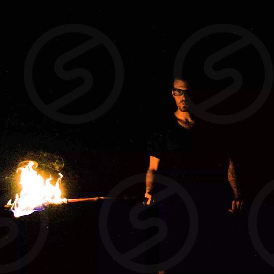 Joe dark Appalachian trail nature torch flame hot crazy interesting people person canon sl1 photo